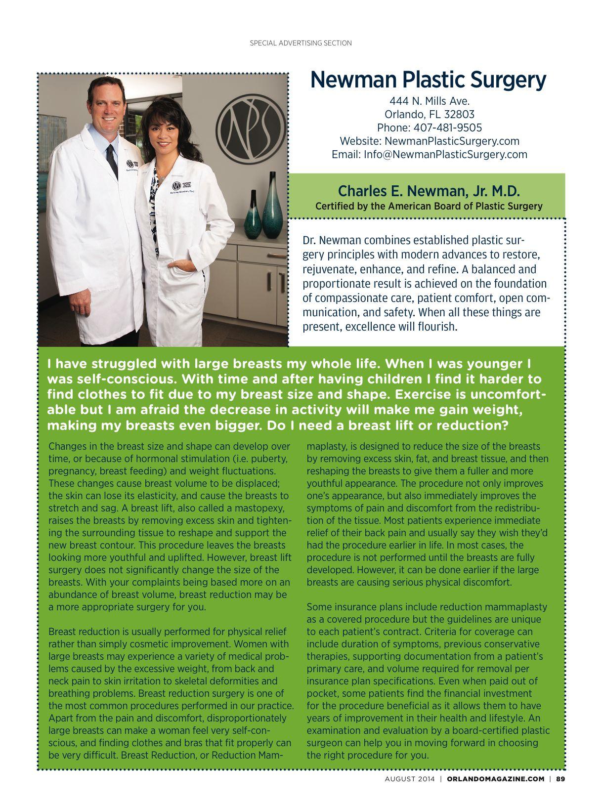 Plastic Surgeon - Newman Plastic Surgery Orlando