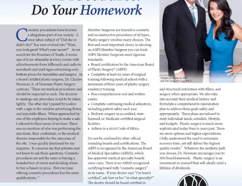 Cosmetic Surgery: Do Your Homework